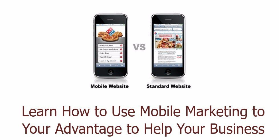 Sample of what mobile website looks like on cell phone